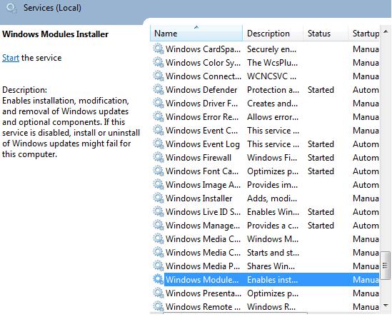 windows module installer worker 100 disk usage