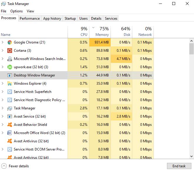 Desktop Window Manager (dwm.exe) and why causing high CPU usage